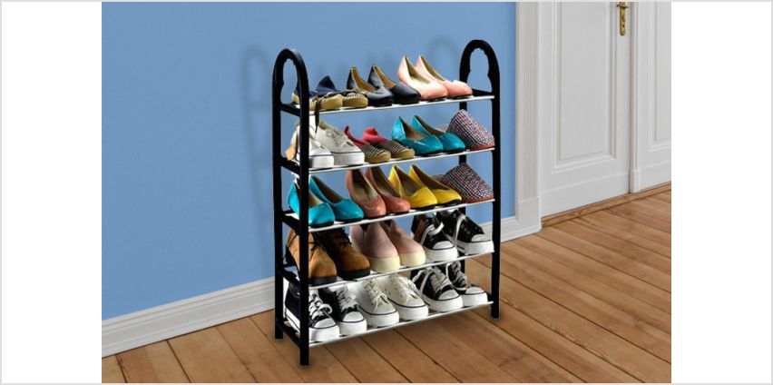 £6.99 instead of £29.99 (from Fusion Online) for a 5 tier shoe rack – save 77% from Wowcher