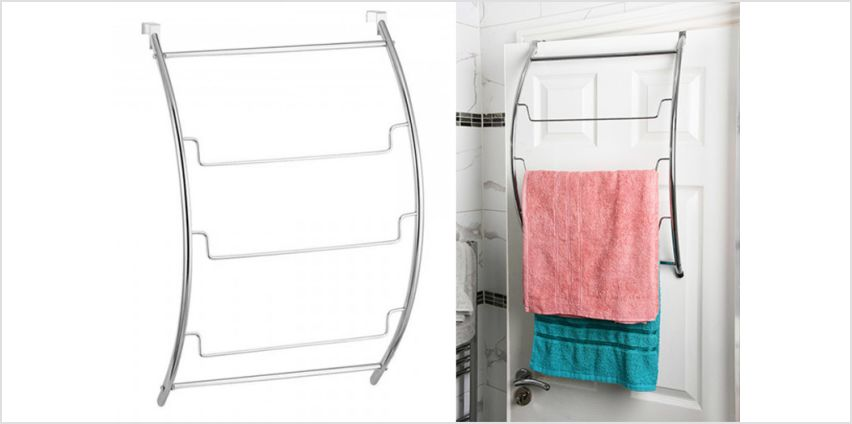£9.99 instead of £45.99 (from Fusion Homeware) for an over-door towel rail - save 78% from Wowcher