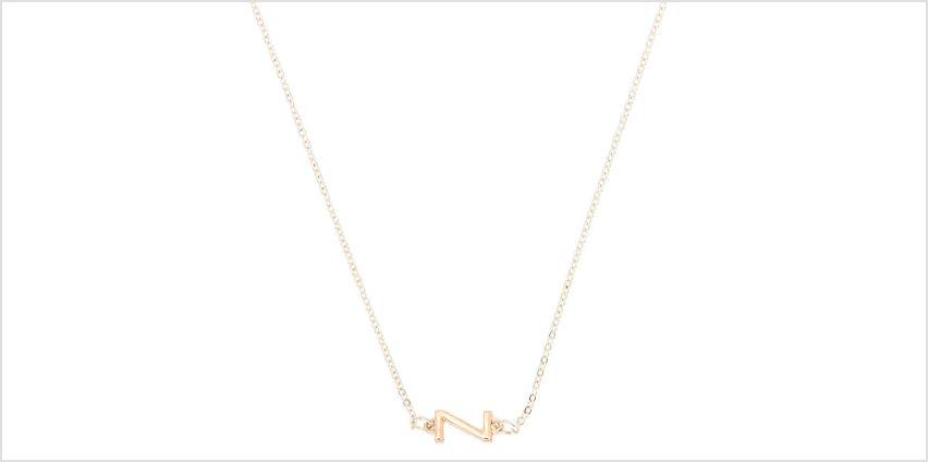 Go to Product: Mixed Metal Sideways Initial Pendant Necklace - Z from Claires