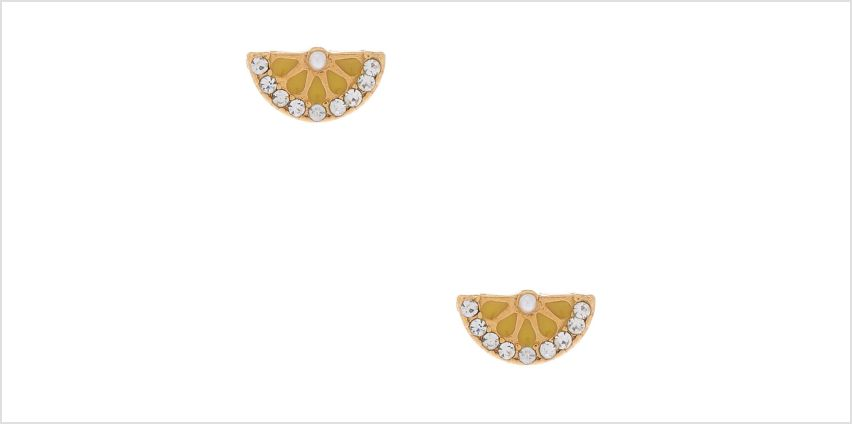 Go to Product: 18kt Gold Plated Lemon Slice Stud Earrings from Claires