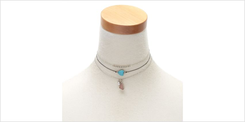 Go to Product: Druzy Stone Choker Necklaces - 3 Pack from Claires