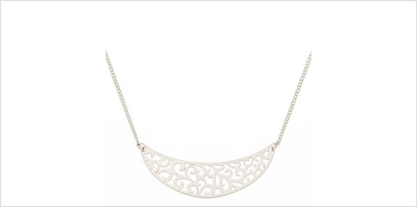 Go to Product: Silver Filigree Half Moon Pendant Necklace from Claires