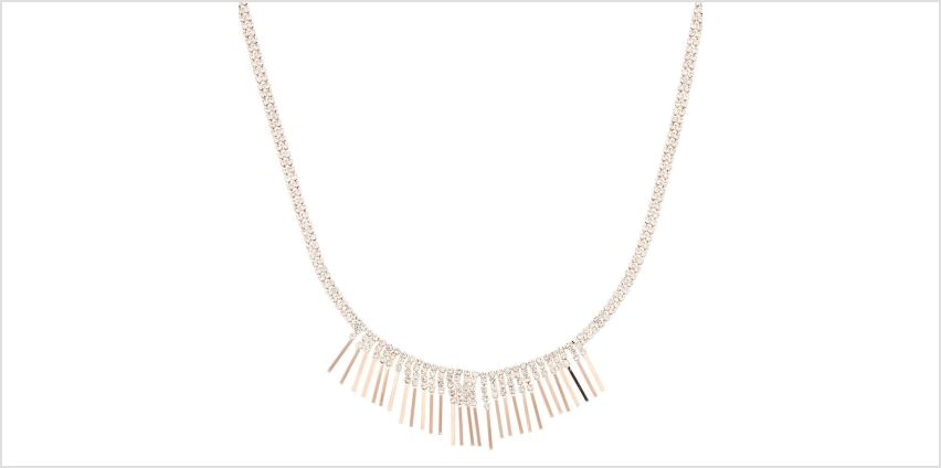 Go to Product: Rose Gold Glass Rhinestone Bib Statement Necklace from Claires