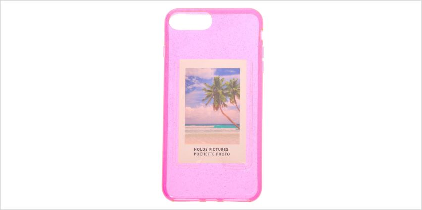 Go to Product: Pink Glitter Instax Mini Pocket Clear Protective Phone Case - Fits iPhone 6/7/8 Plus from Claires