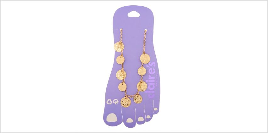 Go to Product: Gold Coin Disk Anklet from Claires