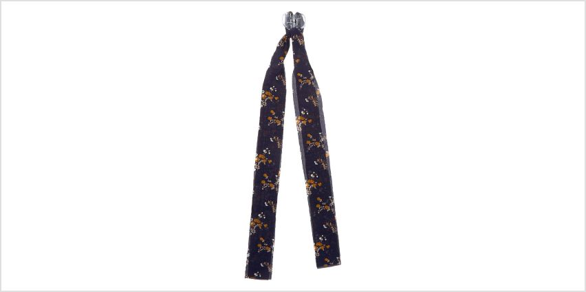 Go to Product: Draped Scarf Floral Hair Bow Claw - Navy from Claires