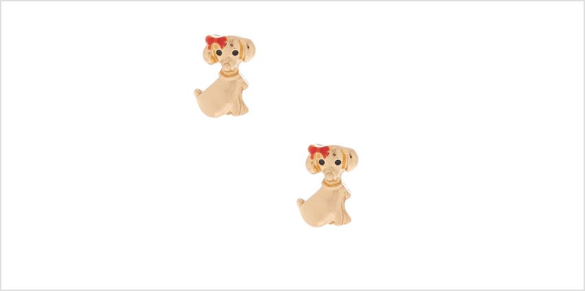 Go to Product: Gold Poodle With Bow Stud Earrings from Claires