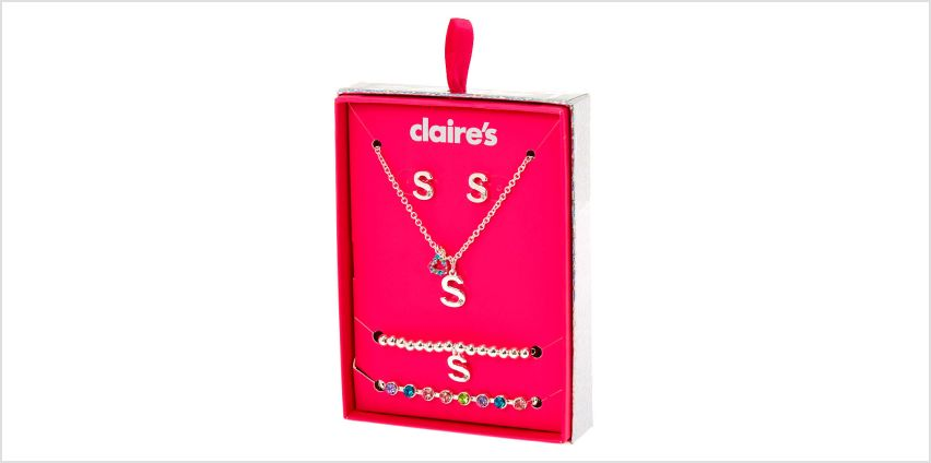 Go to Product: Silver Rainbow Initial Jewellery Gift Set - S, 4 Pack from Claires