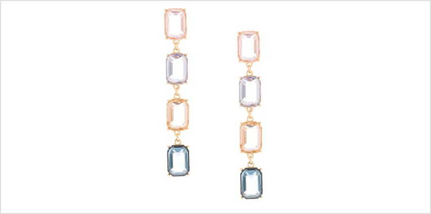 "Go to Product: 3"" Pastel Shine Linear Drop Earrings from Claires"