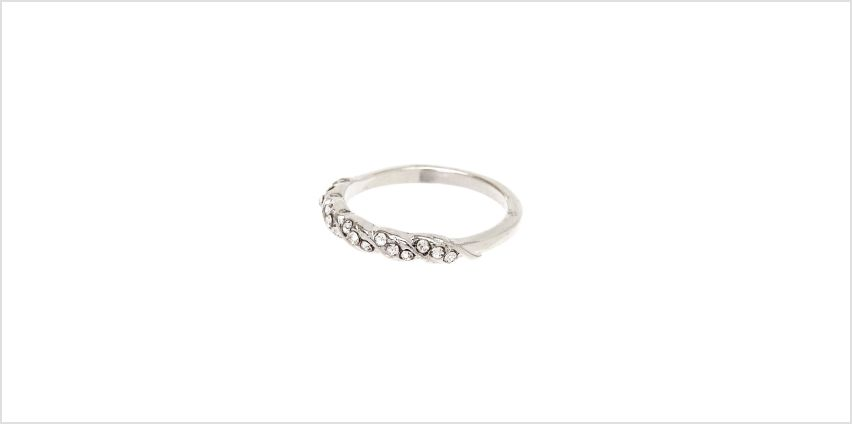 Go to Product: Silver Embellished Twist Ring from Claires