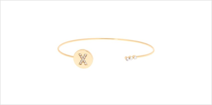 Go to Product: Gold Initial Cuff Bracelet - X from Claires