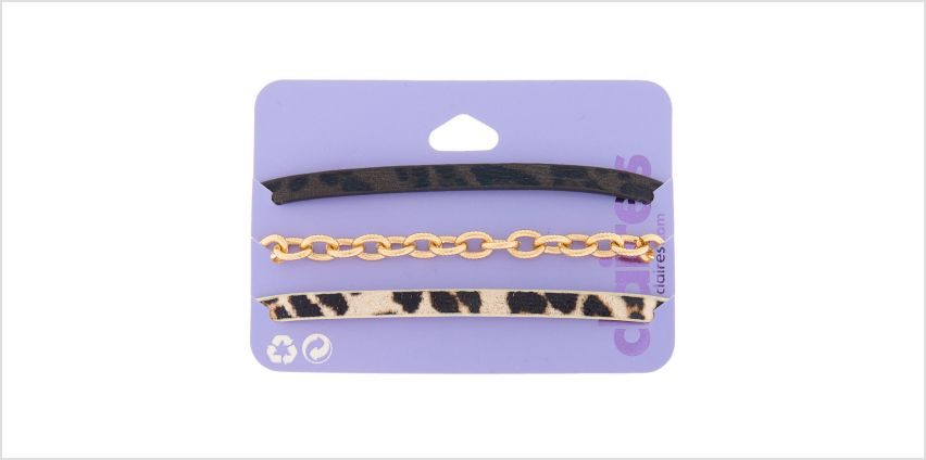Go to Product: Animal Print Chain Bracelets - 3 Pack from Claires