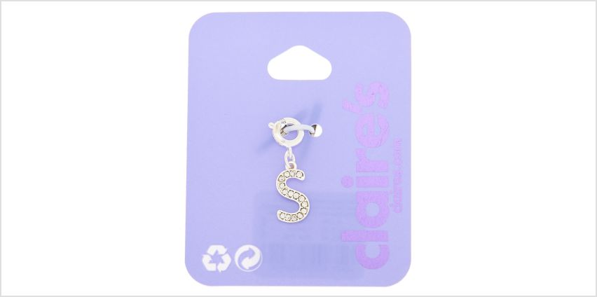 Go to Product: Silver Embellished Initial Bracelet Charm - S from Claires