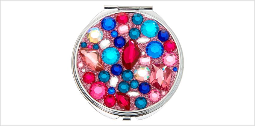 Go to Product: Jeweled Compact Mirror - Pink from Claires