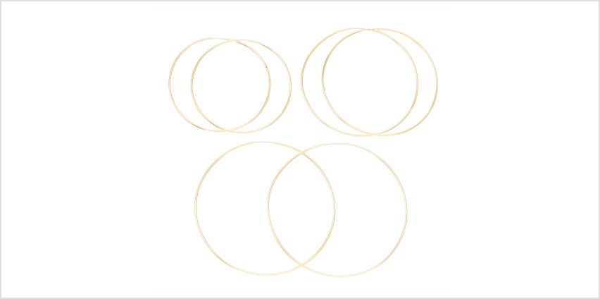 Go to Product: Gold Graduated Hoop Earrings - 3 Pack from Claires
