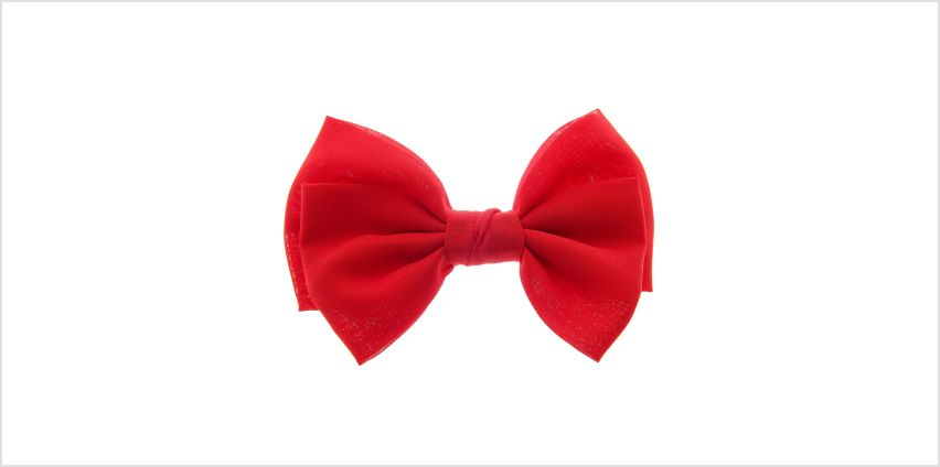 Go to Product: Large Floppy Hair Bow Clip - Red from Claires