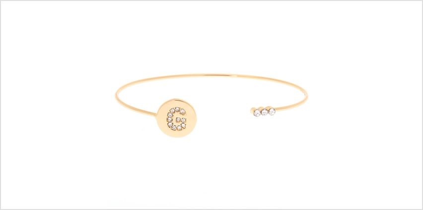 Go to Product: Gold Initial Cuff Bracelet - G from Claires