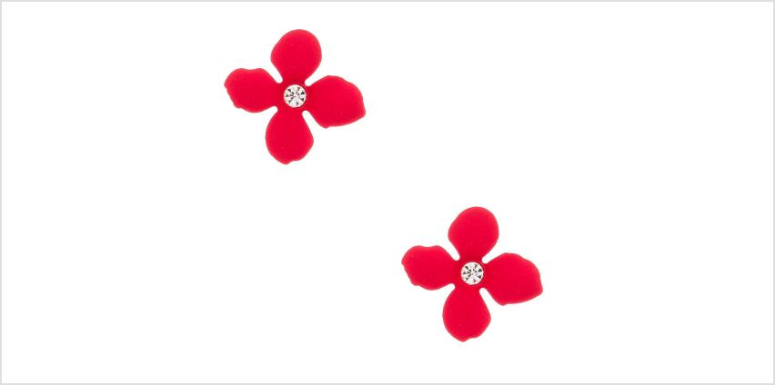 Go to Product: Silver Crystal Flower Stud Earrings - Pink from Claires