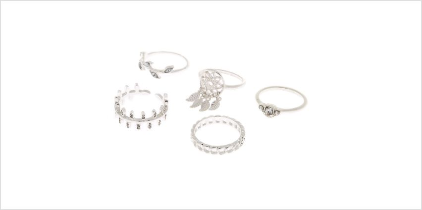 Go to Product: Silver Dreamcatcher Rings - 5 Pack from Claires