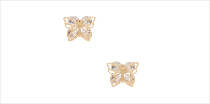 Go to Product: Gold Cubic Zirconia Butterfly Stud Earrings from Claires