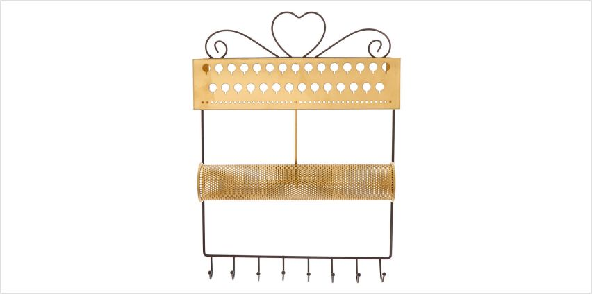 Go to Product: Brushed Gold Hanging Jewelry Holder from Claires