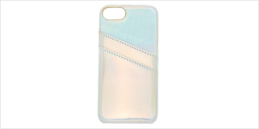 Go to Product: Holographic Card Pocket Phone Case - Fits iPhone 6/7/8 from Claires
