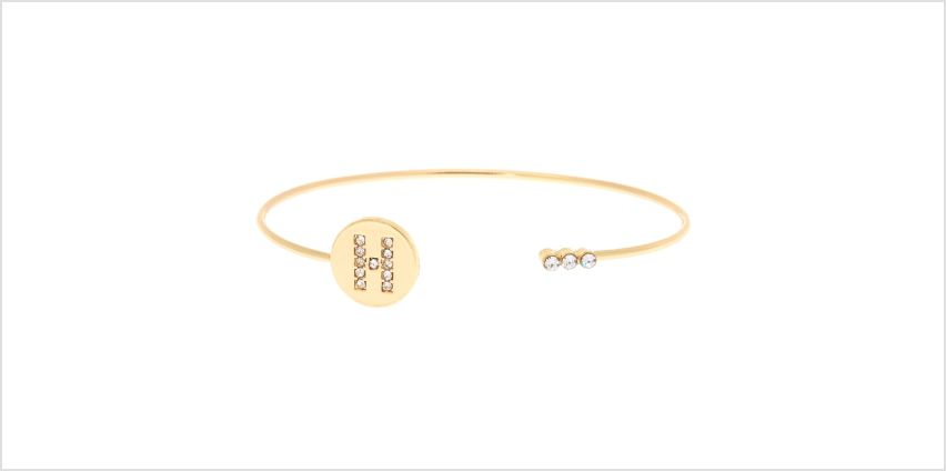 Go to Product: Gold Initial Cuff Bracelet - H from Claires