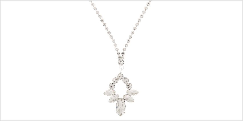 Go to Product: Silver Rhinestone Leaf Pendant Necklace from Claires