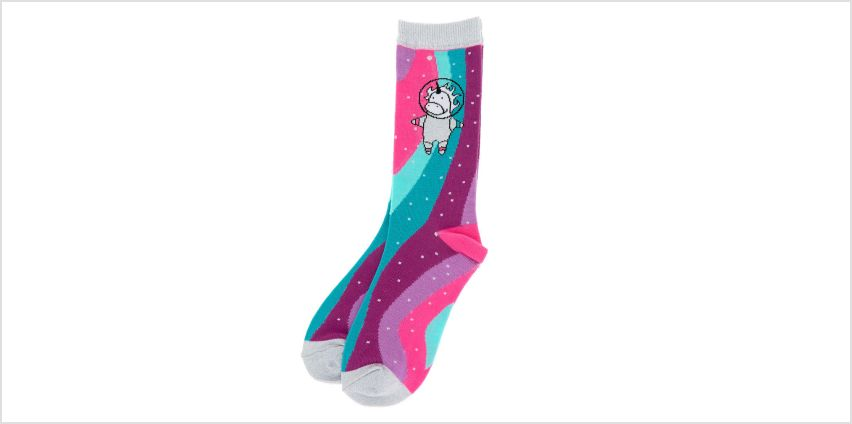 Go to Product: Unicorn Astronaut Crew Socks from Claires