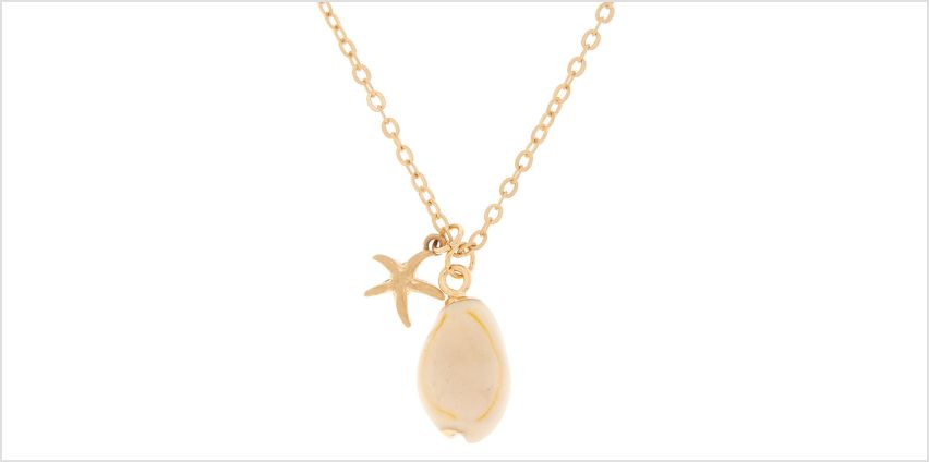 Go to Product: Gold Star Cowrie Shell Pendant Necklace from Claires