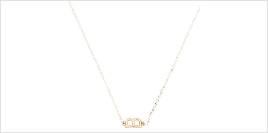 Go to Product: Mixed Metal Sideways Initial Pendant Necklace - B from Claires