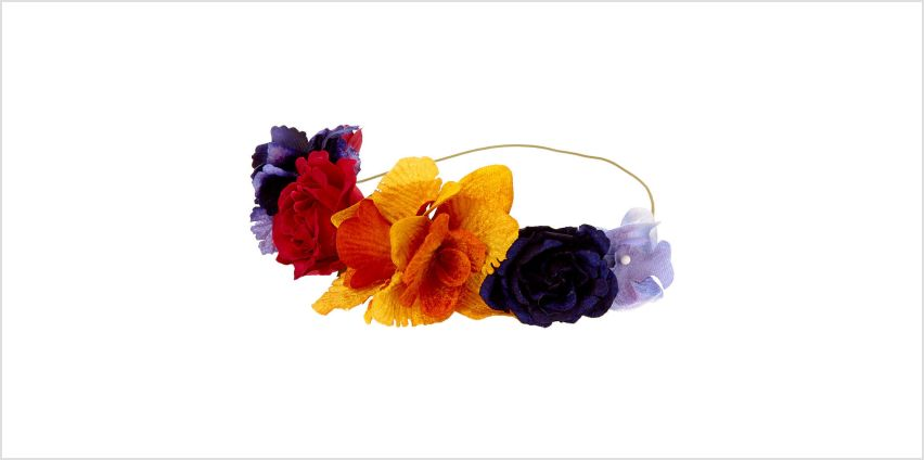 Go to Product: Autumn Velvet Flower Crown Headwrap from Claires