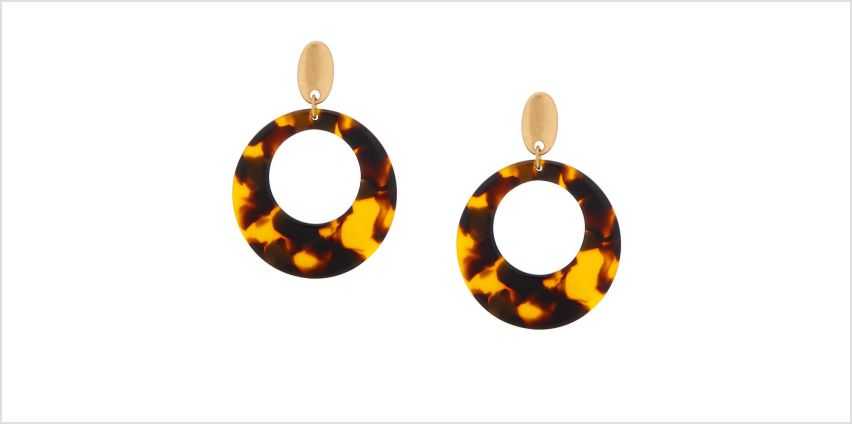 "Go to Product: 2"" Resin Tortoiseshell Drop Earrings - Brown from Claires"