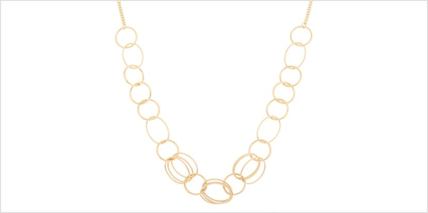 Go to Product: Gold Layered Link Statement Necklace from Claires