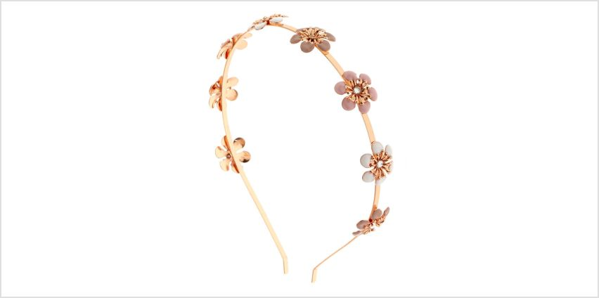 Go to Product: Rose Gold Blush Flowers Headband from Claires