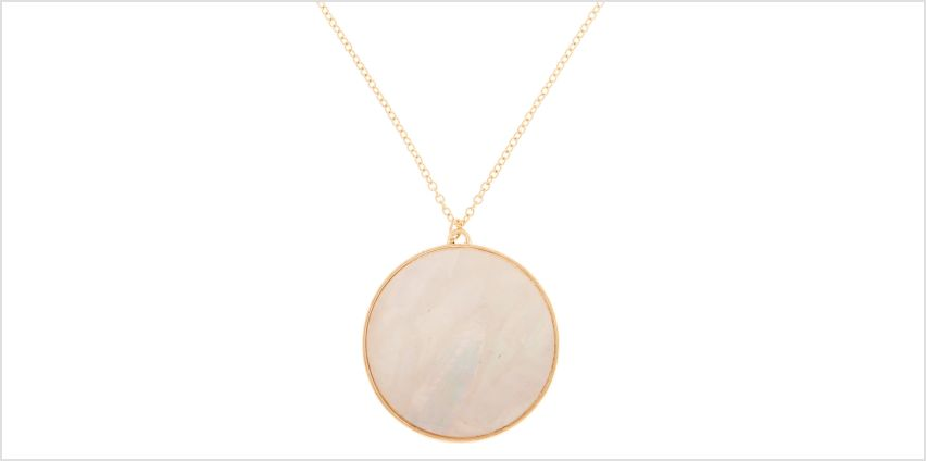 Go to Product: Gold Iridescent Long Pendant Necklace - White from Claires