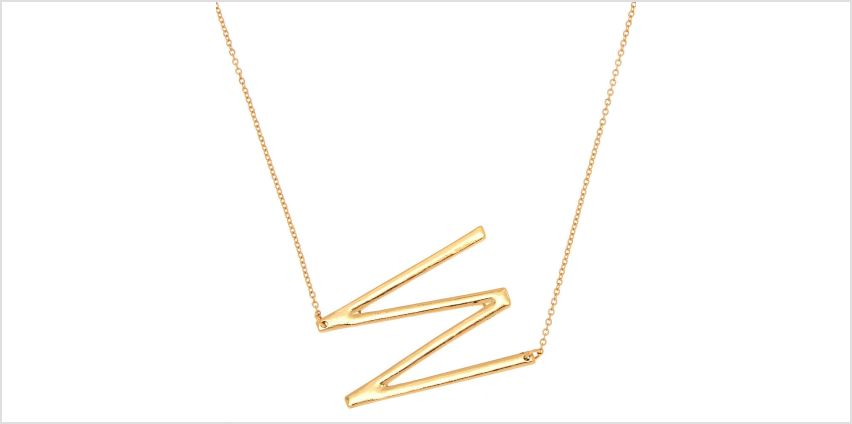 Go to Product: Oversized Initial Pendant Necklace - W from Claires