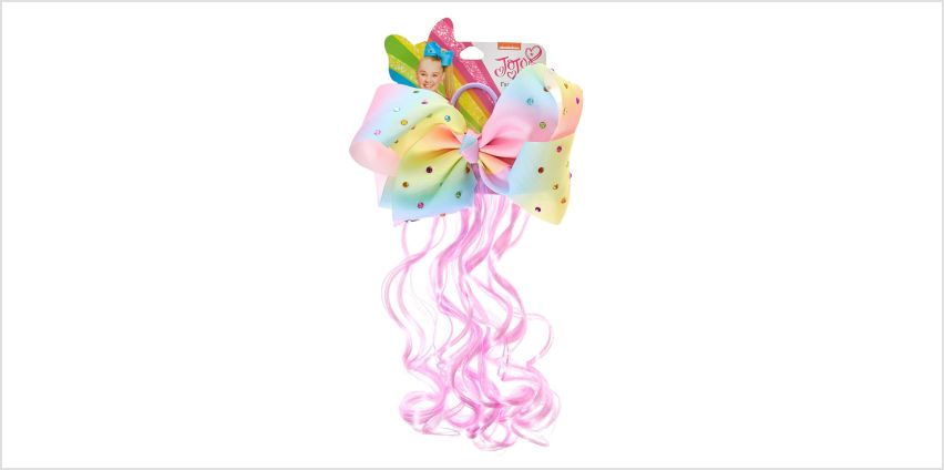JoJo Siwa Pastel Rainbow Bow Faux Hair Tie from Claires
