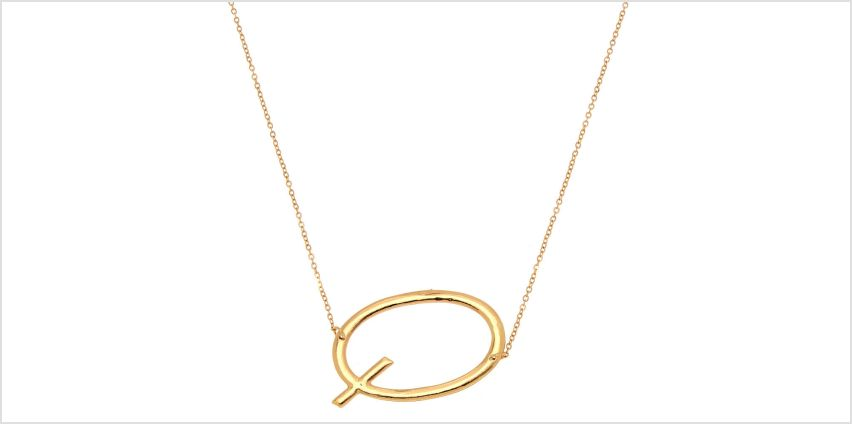 Go to Product: Oversized Initial Pendant Necklace - Q from Claires
