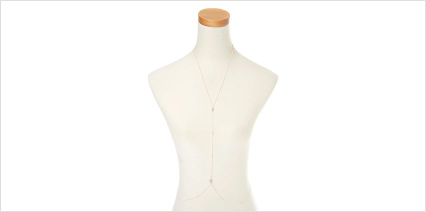 Silver Vintage Diamond Body Chain from Claires