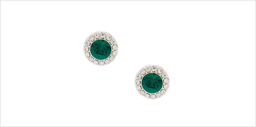 Go to Product: Silver Crystal Stud Earrings - Emerald from Claires