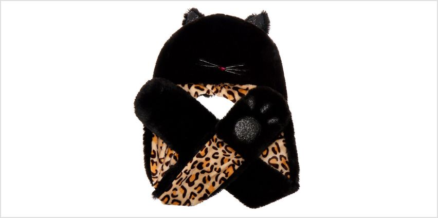 Go to Product: Faux Fur Hooded Leopard Scarf - Black from Claires