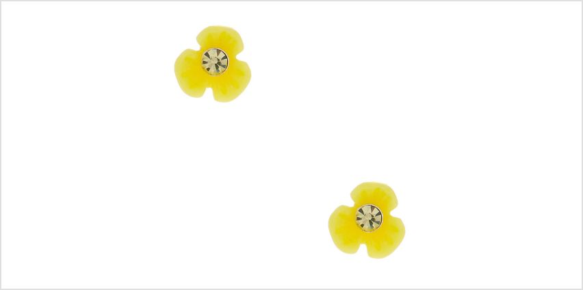 Go to Product: Sterling Silver Daisy Stud Earrings - Yellow from Claires