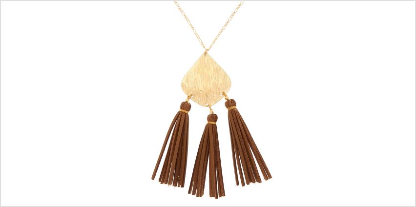 Go to Product: Gold Suede Tassel Long Pendant Necklace from Claires