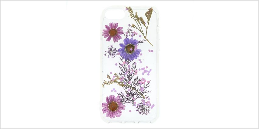 Go to Product: Pressed Flower Glitter Phone Case - Fits iPhone 6/7/8 from Claires