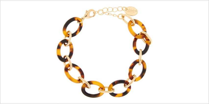 Go to Product: Gold Resin Tortoiseshell Chain Bracelet - Brown from Claires