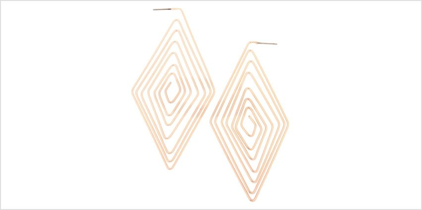 Go to Product: Rose Gold 80MM Diamond Spiral Hoop Earrings from Claires