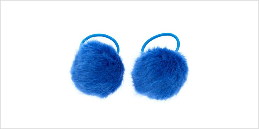 Go to Product: Pom Pom Hair Bobbles - Blue, 2 Pack from Claires