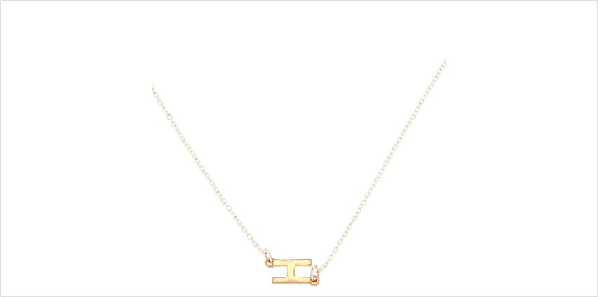 Go to Product: Mixed Metal Sideways Initial Pendant Necklace - H from Claires
