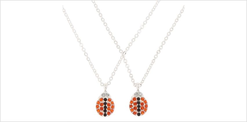 Go to Product: Best Friends Lady Bug Pendant Necklaces - Red, 2 Pack from Claires